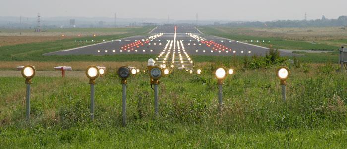 Startbahnbefeuerung am dortmund airport