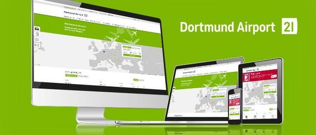 Die neue Webseite   des Dortmund Airport