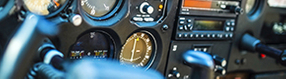 Instrumente im   Flugsimulator am dortmund Airport