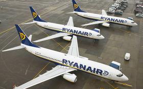 Ryanair-Maschinen auf dem Vorfeld