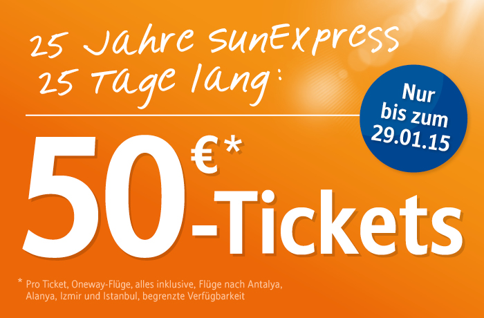 Sunexpress sondertickets