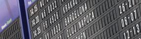 Flugplantafel im   Terminal
