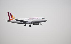 Germanwings Maschine beim Landeanflug