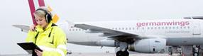 Ausbildung am   Dortmund Airport - Vorfeld Crew
