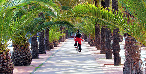 Barcelona fahrrad strand