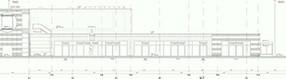 Ausschnitt aus dem   Bauplan des Terminalgebäudes des Dortmund Airport