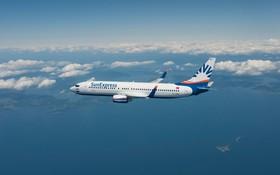 SunExpress-Maschine auf Reiseflughöhe