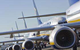 Ein Teil der Ryanair-Flotte