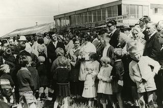 Massenandrang am   Dortmund Airport 1950