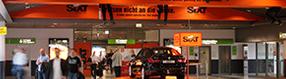 Sixt   Autovermietung im Terminalgebäude des Dortmund Airport