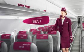 Flugbegleiterin von Germanwings in der Kabine