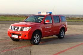 Fahrzeugs des Einsatzleiters der Feuerwehr am Dortmund Airport