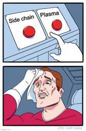 side chain vs plasma
