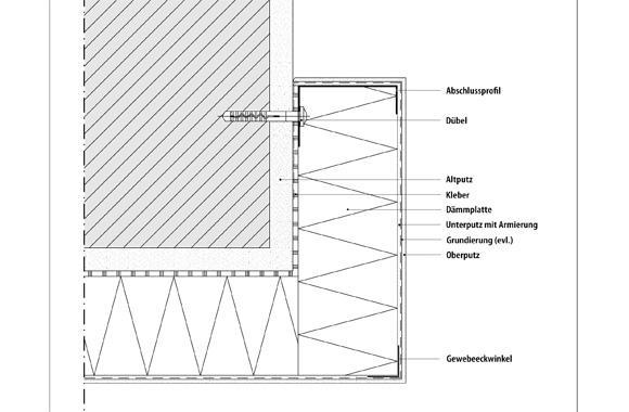 technische Zeichnung von einem Abschluss