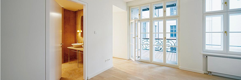 Zimmer mit Balkon - Innendämmung