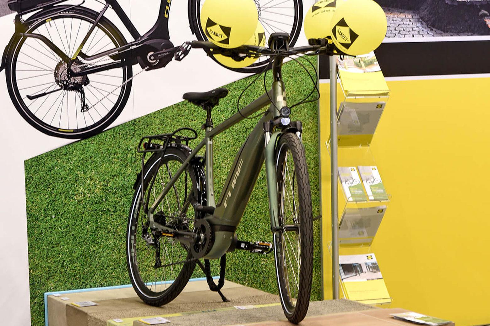 Der Hauptgewinn des SAKRET GaLaBau-Gewinnspiels: Ein E-Bike.