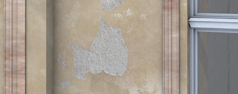 Fassadensanierung | Abnutzung der Wand durch Bewitterung