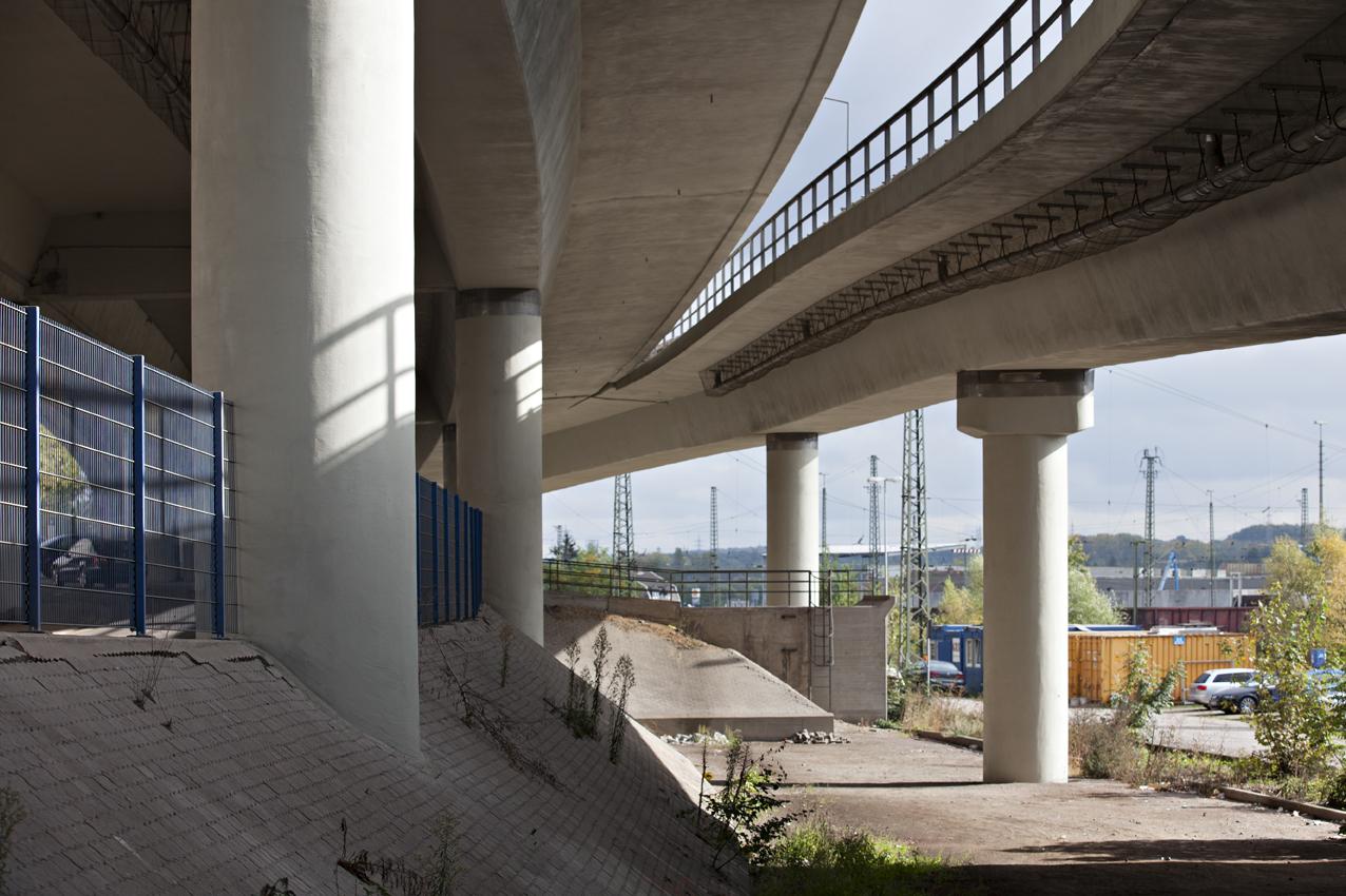 SAKRET Referenzen Hochbrücke Völkingen Pfeiler