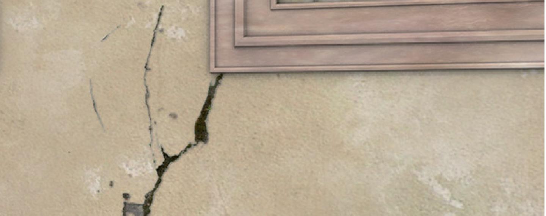 Fassadensanierung | Kleinere Risse in der Wand