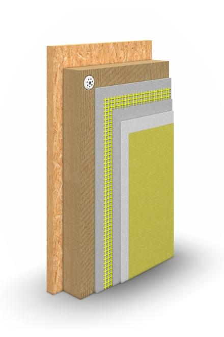 WDVS-System Holzfaser Schichtaufbau