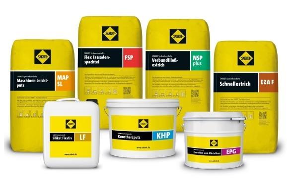 SAKRET Painten Produktsortiment