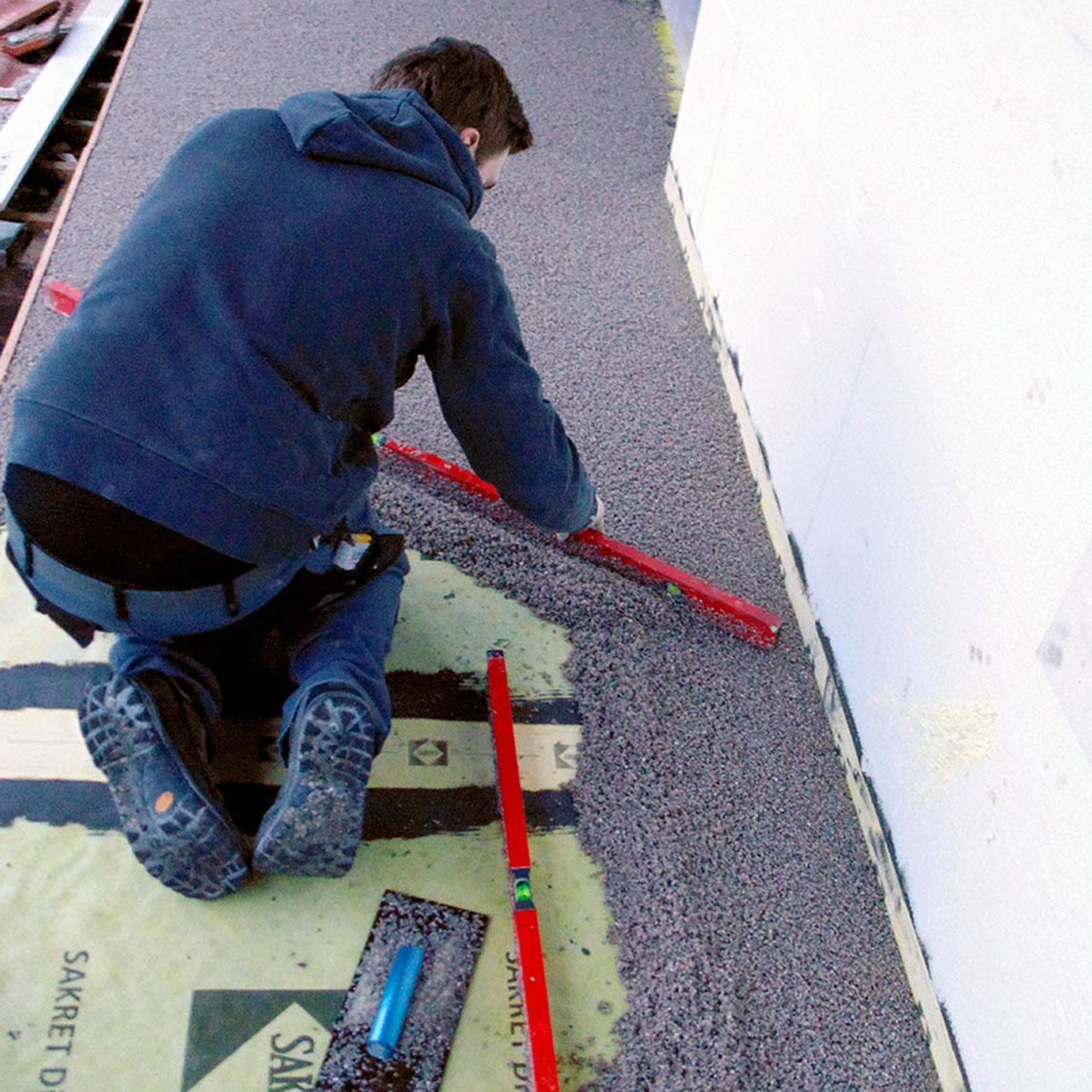 Drainagemörtel sollte nur dann allein eingesetzt werden, wenn er kapillarpassiv und die Wasserbelastung gering ist.