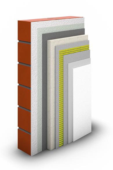 Der Schichtaufbau für energetische Sanierung mit Innendämmung.