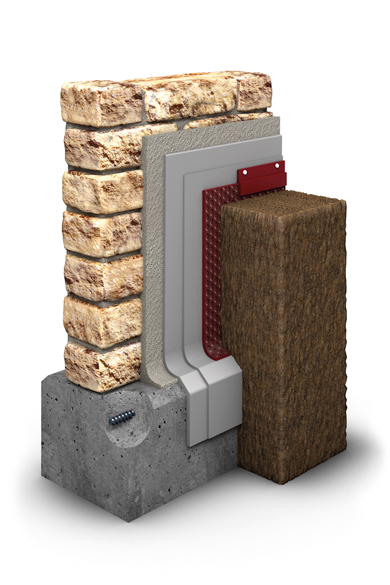 Der Schichtaufbau der Natursteinmauer im GaLaBau.