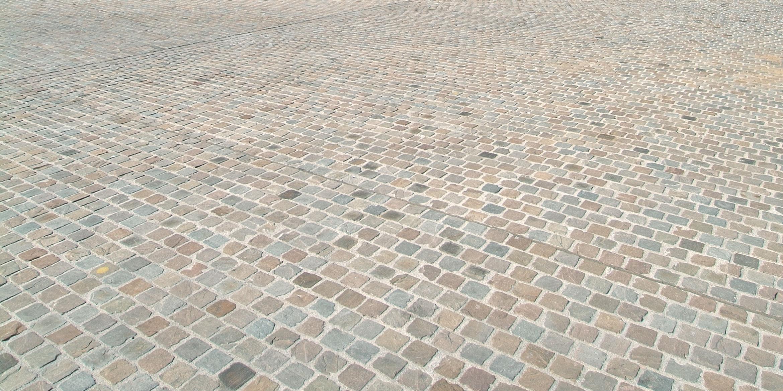 SAKRET Referenz Marktplatz Dortmund Pflastersteine von nah