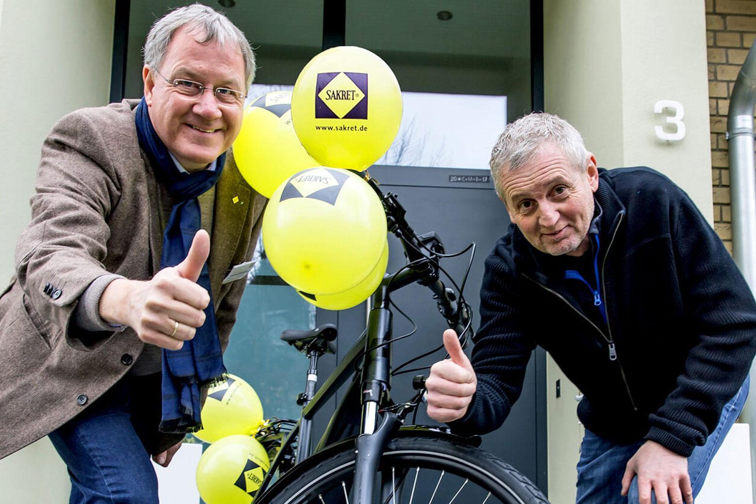 SAKRET aktuelles Galabau Fahrrad Gewinner