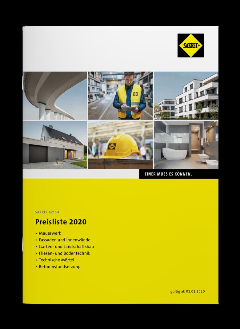 SAKRET GMB Lieferprogramm 2020