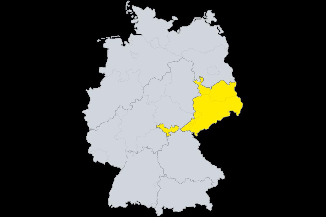 SAKRET Lizenznehmer Karte Sachsen