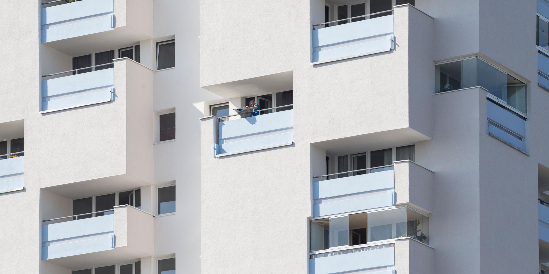 Referenzen WDVS-Fassade Hochhaus Ausschnitt