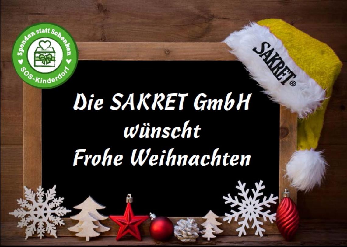 Die SAKRET GmbH wünscht frohe und gesunde Weihnachten