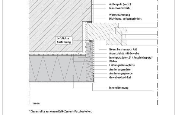 technische Zeichnung von einer Fenster