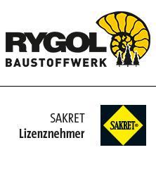 Logos RYGOL und SAKRET