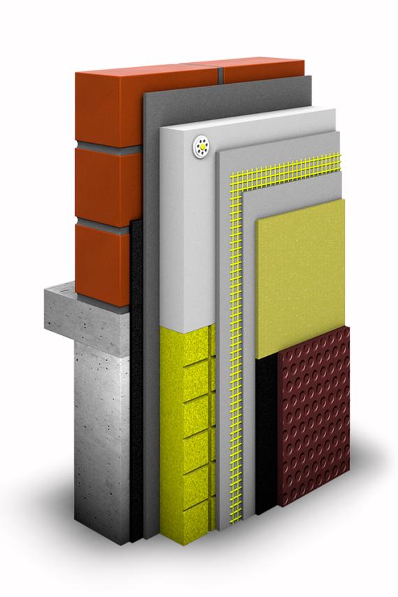 WDVS-System Schichtaufbau