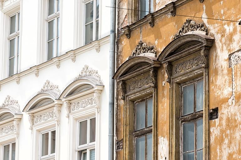 Altbausanierung beschädigte Fassaden