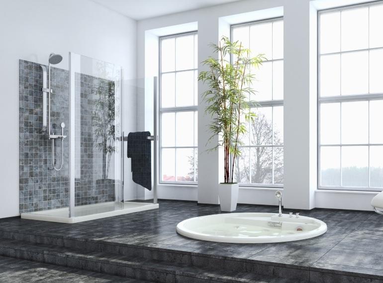 Bad mit Duschtasse