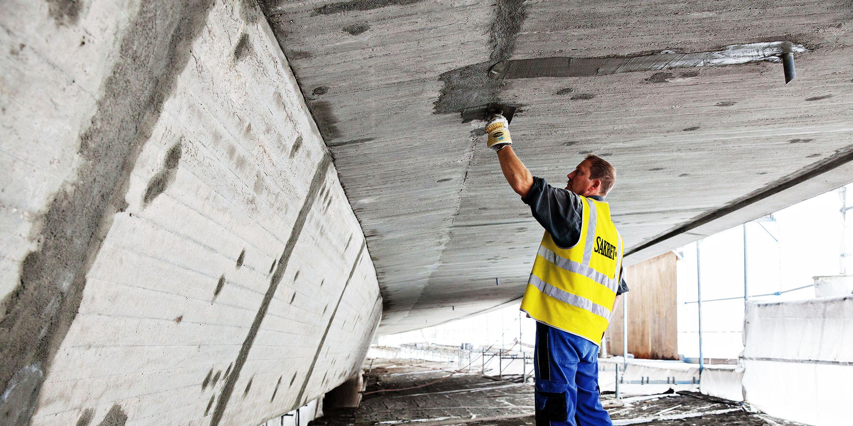 SAKRET Referenz Hochbrücke Völkingen manuelle Betoninstandsetzung