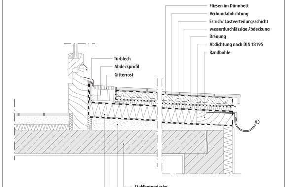 technische Zeichnung von einer Terrasse