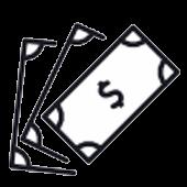 Kosten Dollar Piktogramm