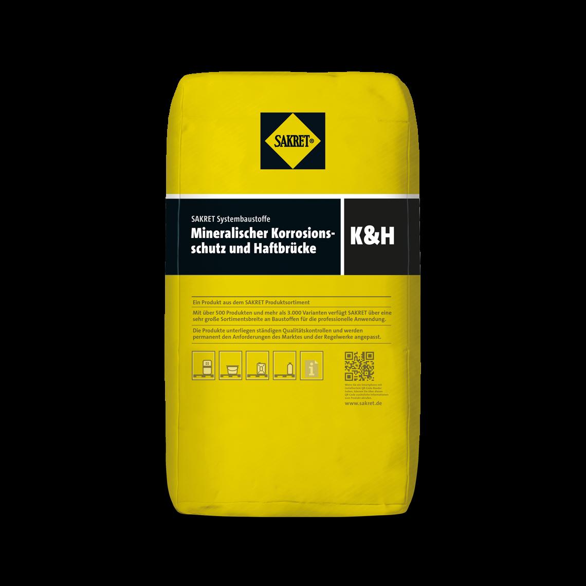 Abbildung SAKRET Mineralischer Korrosionsschutz und Haftbrücke K&H