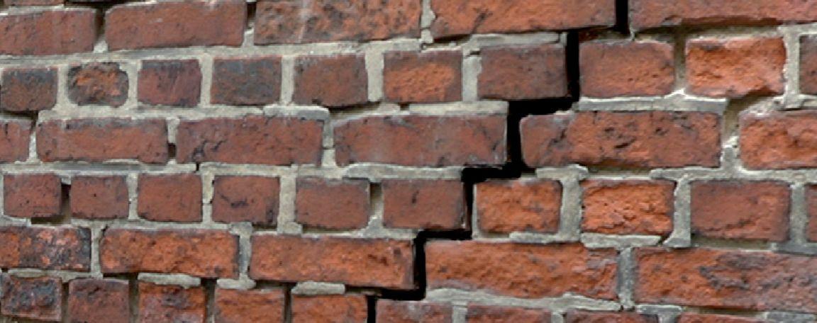 Fassadensanierung | Mauerwerk mit Riss