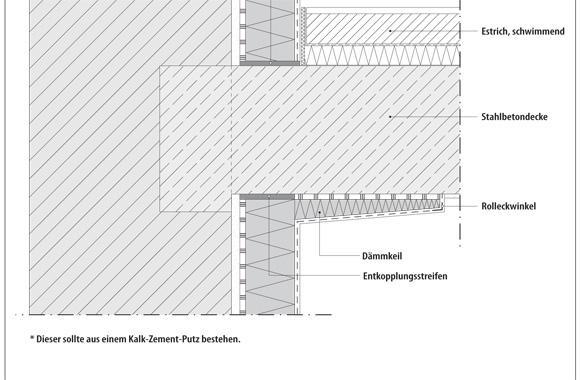 technische Zeichnung von einer Decke