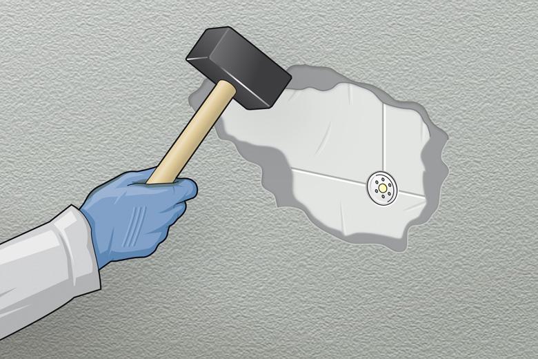Reinigen des Untergrunds