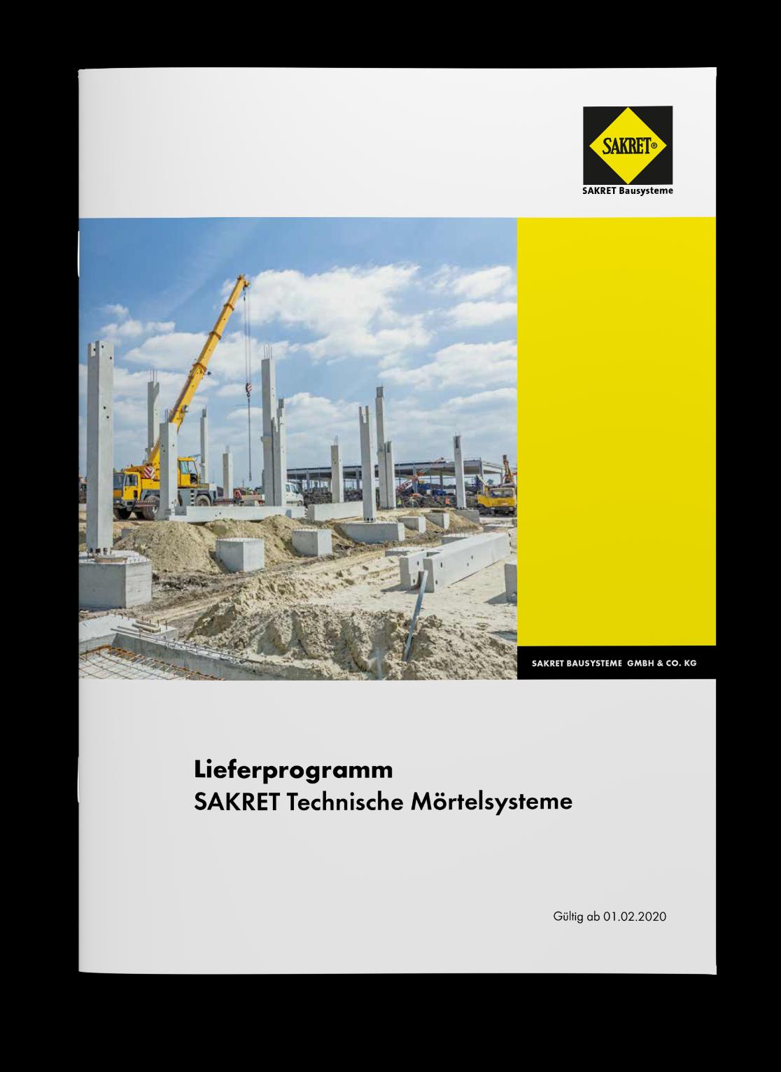 SAKRET Bausysteme Technische Mörtel Lieferprogramm 2020