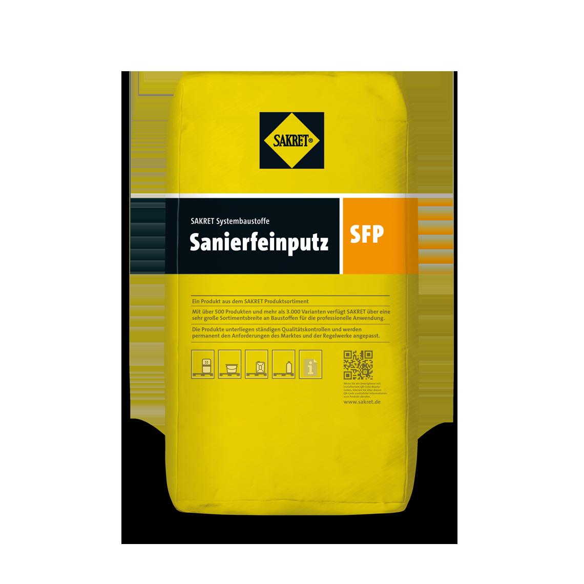 Abbildung SARKET Sanierfeinputz SFP