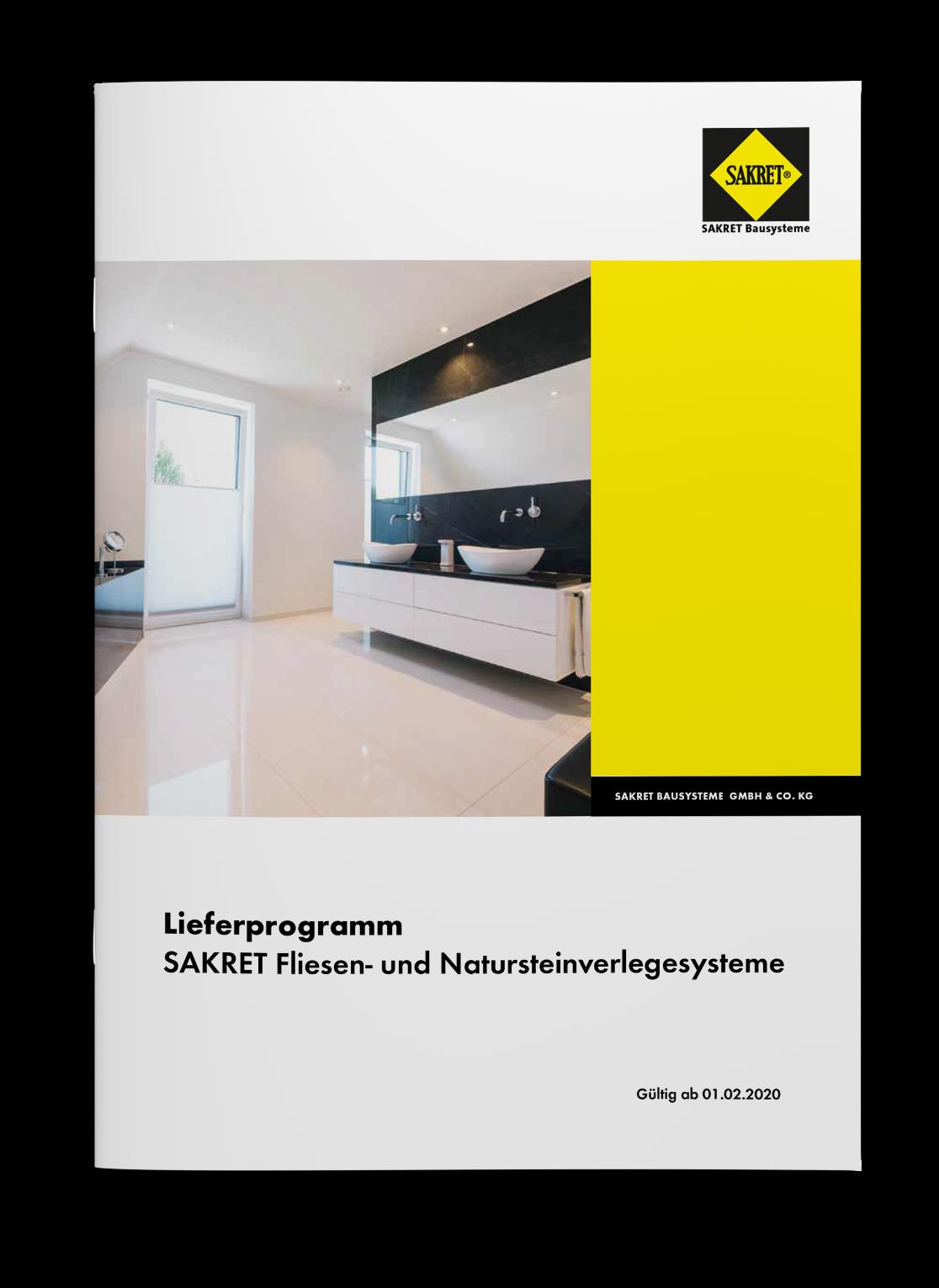 SAKRET Bausysteme Fliese Lieferprogramm 2020