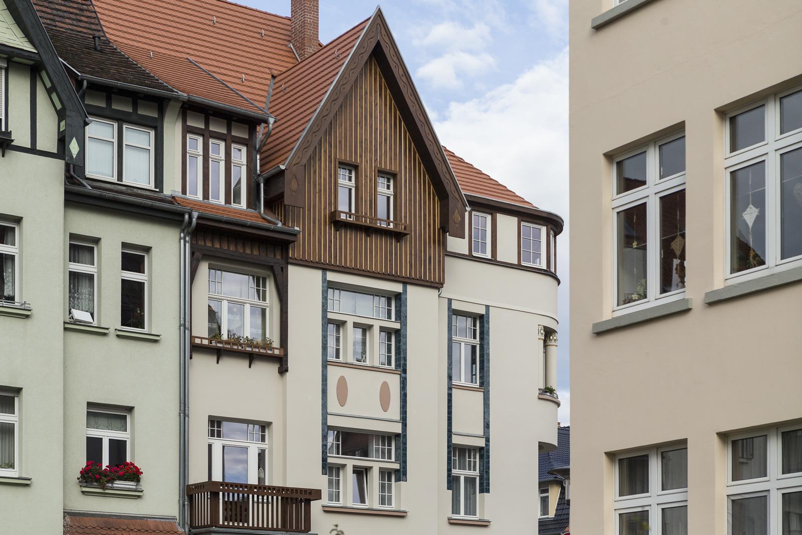 SAKRET Referenz Fassadensanierung Eisenach Fassade von Weitem